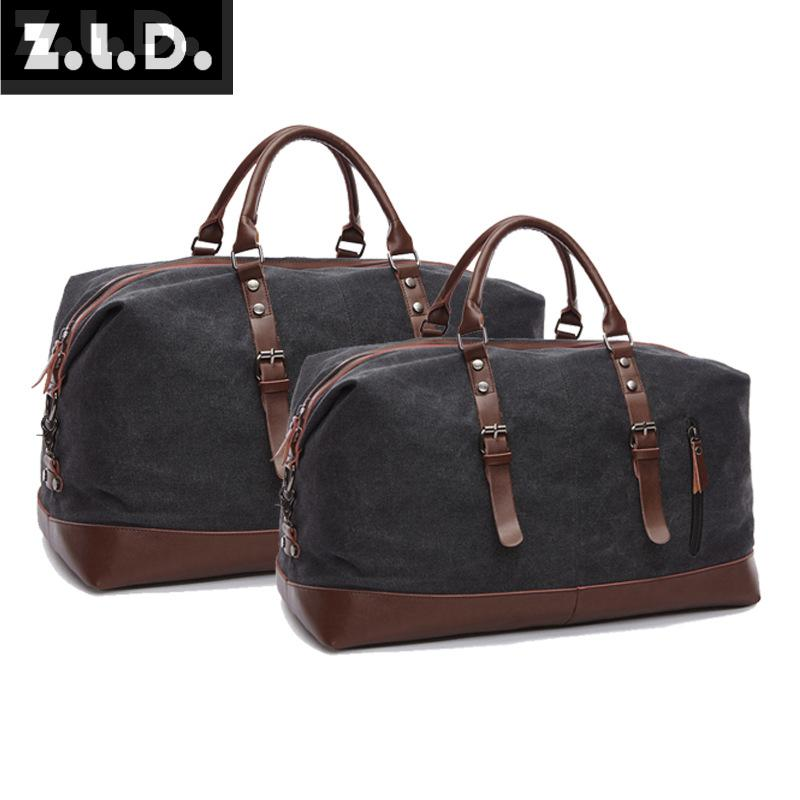 Z.L.D. Large-capacity Travel Bag Fashion Brand Bags Mens & Womens Casual Canvas Travel Bags Large Weekend Bags