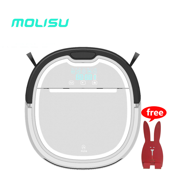 MOLISU A3 Robot Vacuum Cleaner Mop Water Thome floor , 2017 new A6 house sweeping cleaning, free shipping from Russia free shipping to russia newest 6 in1 robot vacuum cleaner with 6 drop sensors to keep unit from falling off sonic wall