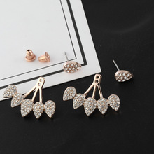 цена на 1 Pair Hot Sale Water Drop Girls Screw-back Rhinestone Stud, Women Crystal&Alloy Earrings Ladies Ear Jewelry