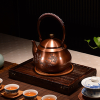Chinese Style High Quality Exquisite Boil Tea Teapot Purple Copper Kettle Without Coating Boil Water Better