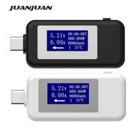 USB Type C USB Tester LCD Digital Voltage Current Meter Voltmeter Amp Volt Ammeter Detector Power Bank Charger Indicator  20%off|Voltage Meters| |  -