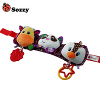 Sozzy Baby Musical Travel Trio Plush Toy Stretch Play Twinkling Lights Playful Music