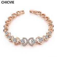 Женские винтажные браслеты с подвесками chicvie золотого цвета