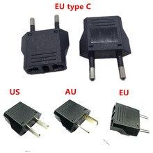 2 pcs Europese EU Plug Adapter Amerikaanse Australische Japan CN Ons EU Euro Type C AC Travel Power Adapters elektrische Stopcontacten
