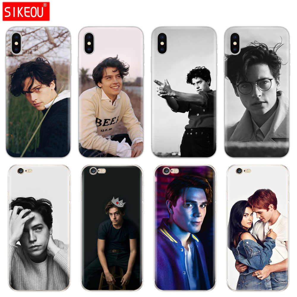 Silicone Cover Phone Case For Iphone 6 X 8 7 6s 5 5s SE Plus 10 XR XS Max  Case American TV Riverdale Cole Sprouse
