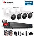 AHCVBIVN 4MP 5 в 1 4CH система безопасности  AHD  DVR NVR CCTV система 4.0MP 2560*1440 Всепогодная наружная камера видеонаблюдения комплект безопасности