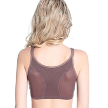High Quality plus size 110DEF Thin large cups vest front fastener no trace lace Sexy  bras women's underwear
