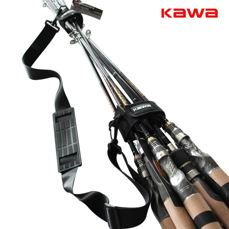 2015 KAWA New Lure fishing rod suspenders shoulder strap, multifunction fishing rod belt fishing tackle, free shipping lumiparty reusable fishing rod tie holder strap suspenders rod belt hook loop cable ties fishing tackle box peche accessories