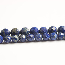 LanLi  natural jewelry 6/8mm  lapis lazuli loose Beads DIY men and women Bracelet Necklace anklet Accessories