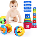 Baby Toy Fun DIY Colorful Stacked Cup Cute Musical Grasp Handbell Developmental Ball Bed Bell Kids Baby Toy Rattle