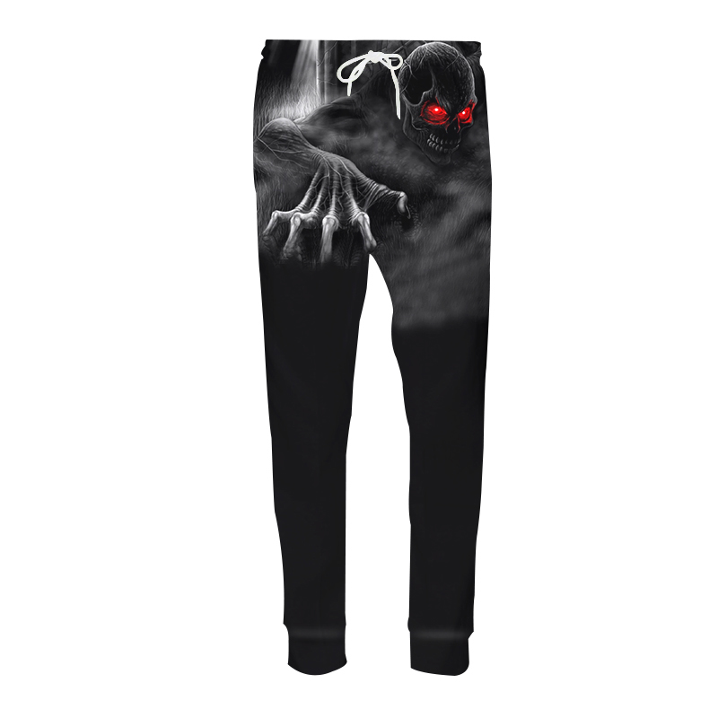 Casual Harem Pants Men Joggers Drawstring Trousers Anime Reapers Scythe 3D Print Sweat Pantalon Hip Hop Fitness Sweatpants
