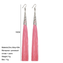 LOVBEAFAS Long Tassel Earrings For Women 2018 Fashion Jewelry Boho Drop Fringe Vintage Statement Bohemian Earrings Pendientes
