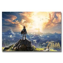 Permainan Panas Baru The Legend Of Zelda Breath Of The Wild Poster Sutra Dinding Lukisan 24X36 Inch(China)