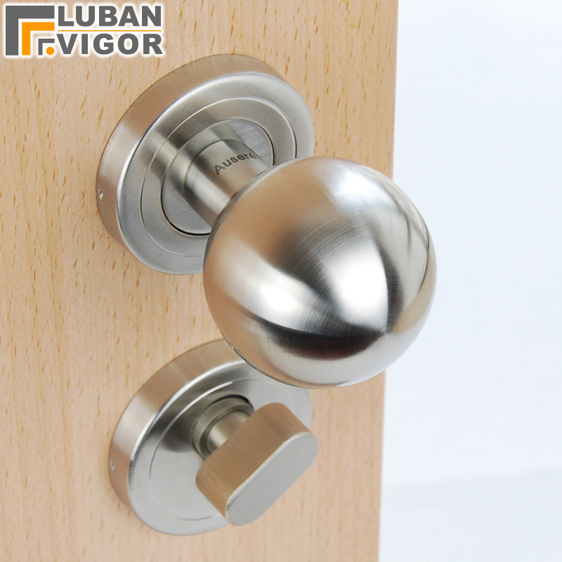 Real High end Brand 304 stainless steel Hollow spherical handle indoor doors copper cylinder Exquisite casting
