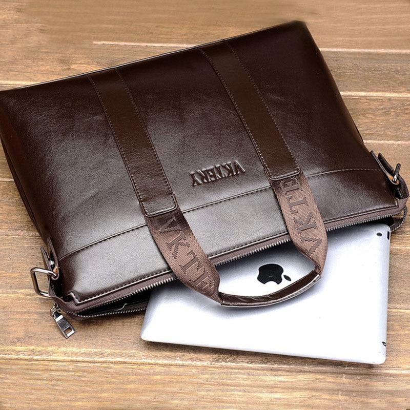 Fashion Men's Briefcase PU Leather Briefcase Men Handbag Business Bag Luxury Designer Men Laptop Bag High Quality Men Briefcase