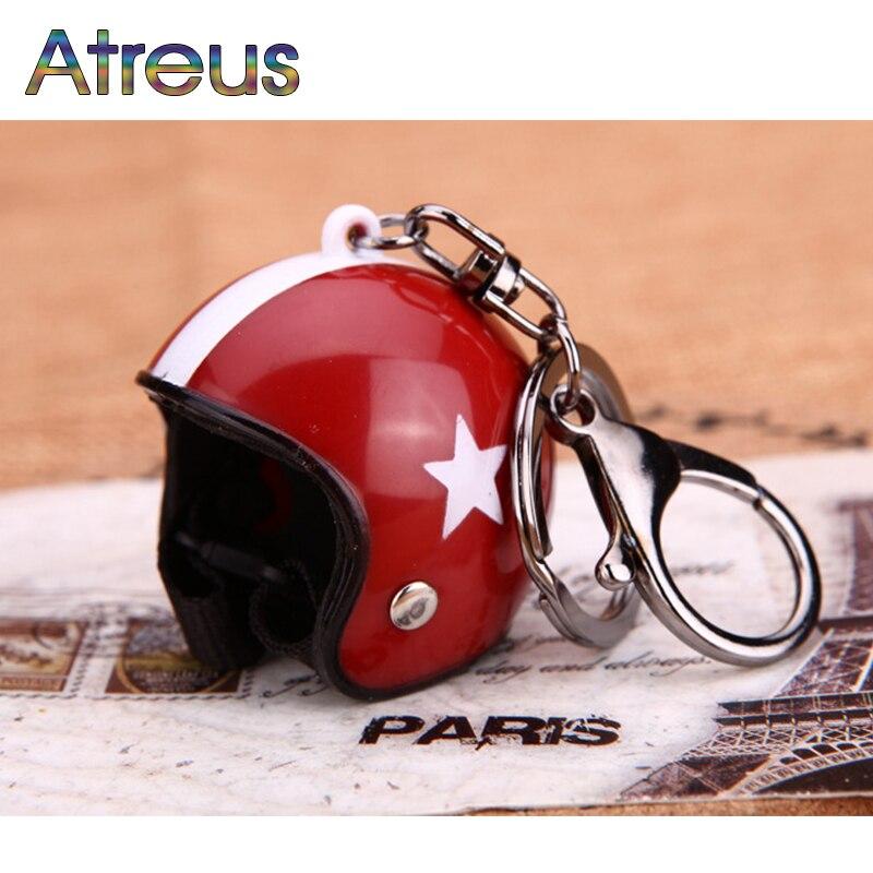 Atreus 1Pcs Car Keychain Motorcycle Hat key ring For VW Polo Jetta Toyota Corolla Mercedes W203 Saab Renault Dacia Duster
