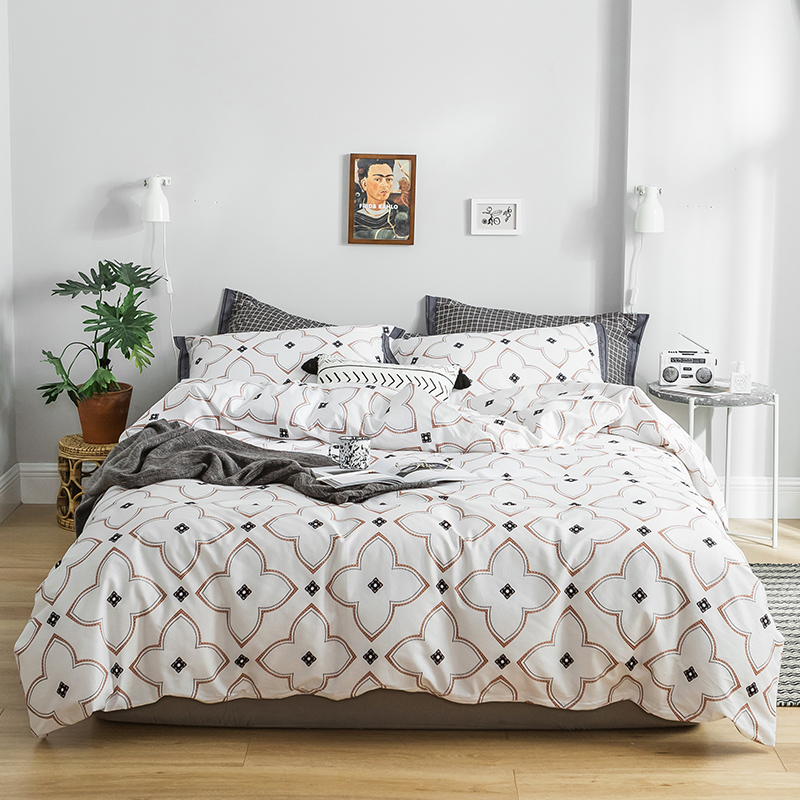 Bedding Set Luxury Cotton Bed Set Concise Style Queen King Size White Duvet Cover Set Pillowcase Bed Sheet 3 stylesBedding Set Luxury Cotton Bed Set Concise Style Queen King Size White Duvet Cover Set Pillowcase Bed Sheet 3 styles