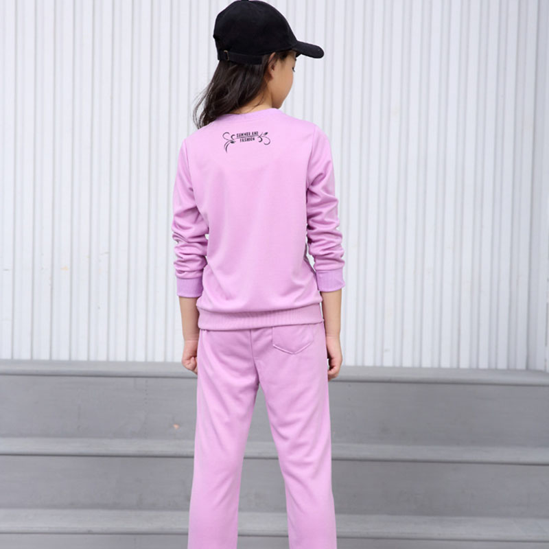 2019 Baby Girl Clothes Suit Spring And Autumn Long sleeved T shirt Pants's Sports Clothing Cartoon Printing Children 39 s Wear in Clothing Sets from Mother amp Kids