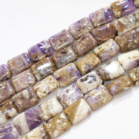 Rectangle Natural Stone Amethysts Diy Necklace Bracelet 13x18 15x18mm Purple Crystal Beads Jewels Making Loose Bead 15inch B3288