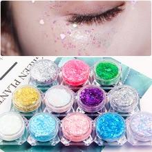 1Box Super Glitter Sticky Sequin eyeshadow festival makeup Shiny Heart Star Shap
