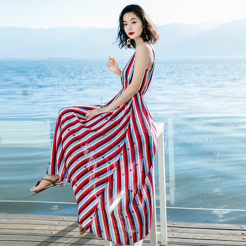 Children's 03 Summer Island Seaside Special 01 Chiffon Clothing Striped 02 Color 2019 Dress color Bali Long New Thailand Offer Beach color nOXxdqR7