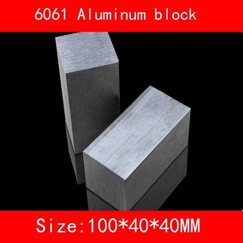 6061 aluminum block size 100*40*40mm AL Metal silver color 1 pcs himabm 1 pcs 100
