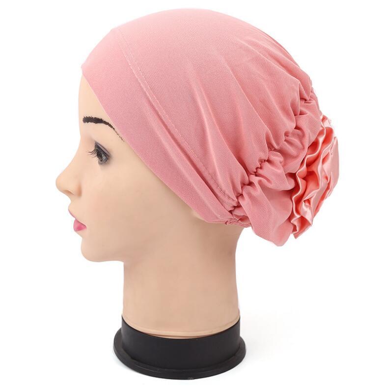 2017 Frauen Blume Hüte Muslimischen Mützen Hüte Turban Hüte Skullies Haar Zubehör Bandana Haar Abdeckung Chemotherapie Hüte Für Sommer