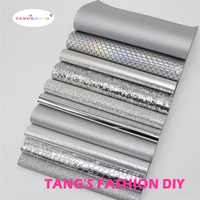 10pcs-alta calidad nuevo estilo de mezcla de color plateado juego de cuero PU/conjunto de cuero sintético/cuero artificial de tela DIY