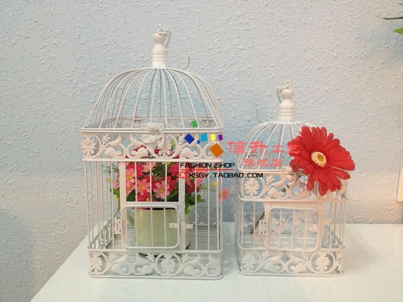 패션 철 birdcage 장식 큰 장식 흰색 빈티지 swithin 소품