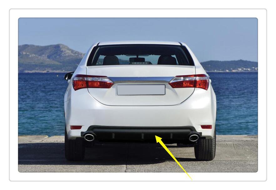 For Toyota Corolla SEDAN 2014 2015 2016 2017 Plastic Rear Bottom Spoiler 1pcs  car-styling какой смартфон в 2014 2015