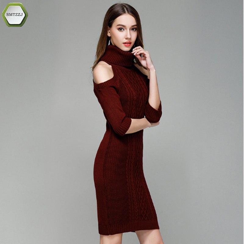 SMTZZJ Luxury Women Sweater Turtleneck Pullover Women Sweater Dress Long Sweaters 2018 Spring White Casual Clothes For Women