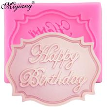 Happy Birthday Letter Form Silicone Mold DIY Cupcake Topper Fondant Cake Decorating Tools Candy Clay Chocolate Gumpaste Mould cheap Cake Tools Moulds LFGB CE EU Stocked Eco-Friendly CT117 Mujiang