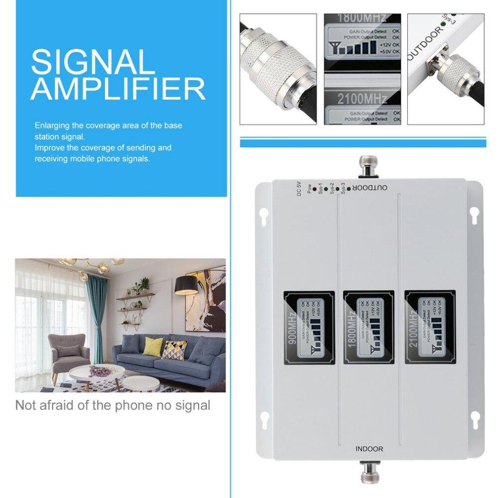 Amplificateur de Signal de répéteur extérieur externe GSM 900 MHZ 1800 MHZ 2100 MHZ amplificateur de Signal de téléphone Portable de taille Portable - 2