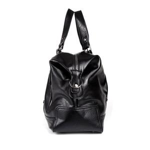 Image 3 - 패션 남자 여행 가방 수하물 방수 가방 더플 백 큰 대용량 가방 캐주얼 대용량 PU 가죽 핸드백