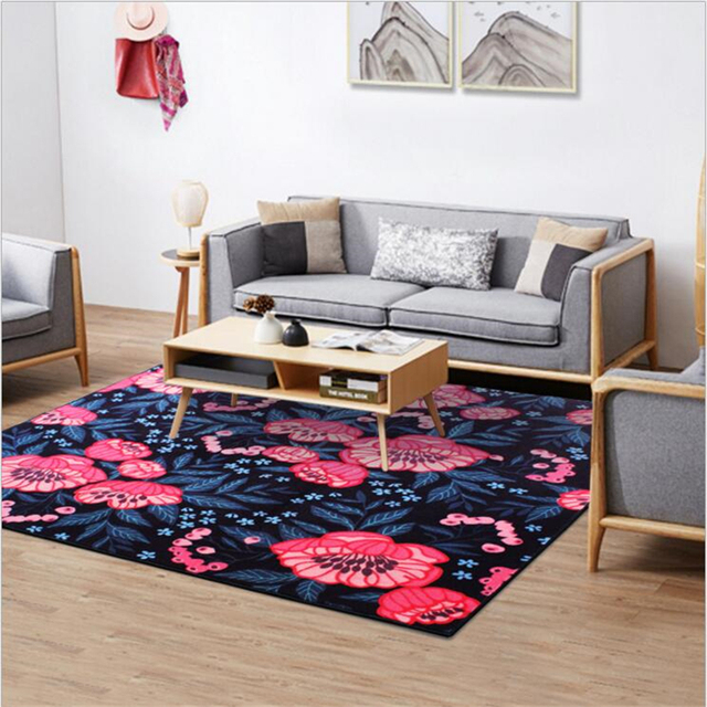 Traditional Chinaese Style Floral Design Carpets For Living Room