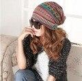 Primavera outono malha chapéu mulheres chapéu manos mais barato Gorras sul-americano inspirado chapéu gorro listrado Multi Color CP065