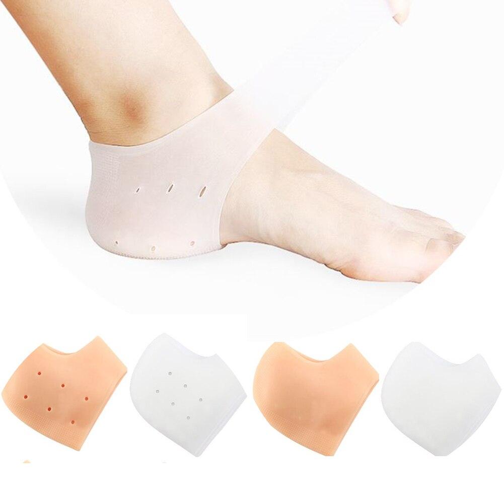 2 Pieces Heel Protector Protective Sleeve Heel Spur Pads For Relief Plantar Fasciitis Heel Pain Reduce Pressure On Heel Hot Sale