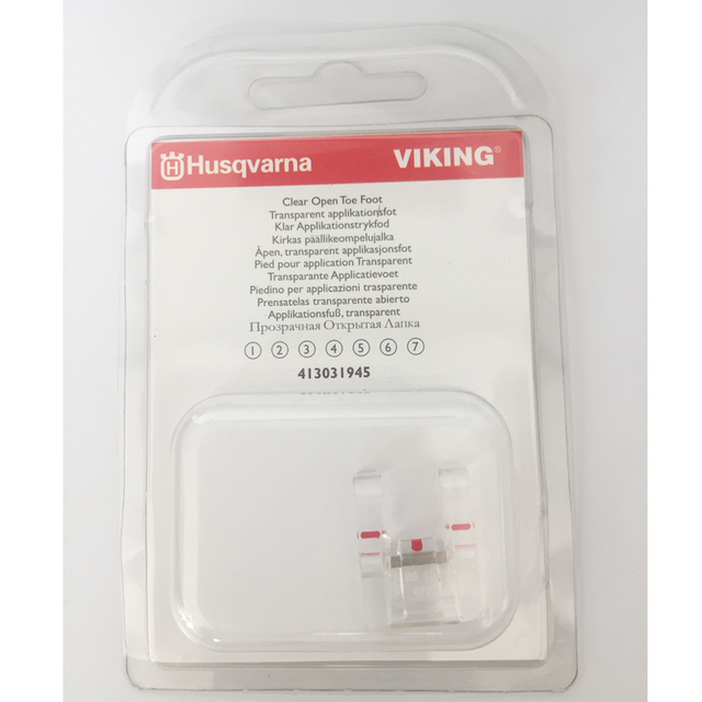 US $4 88 |Clear Open Toe Presser Foot #4130319 45 For Viking Husqvarna  Sewing Machine Group 1 7 (413031945)-in Sewing Tools & Accessory from Home  &
