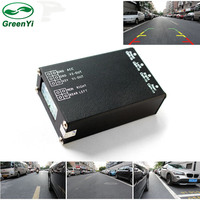 4 way Monitor Video Control Switch Combiner Box for 360 Degrees Left Right View Front Rear Left Car Parking Support 4 Cameras