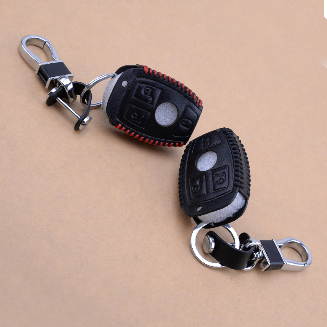 CITALL 3 Button PU Leather Car Remote Smart Key Cover Case Holder Fit For Mercedes Benz 3 4 Buttons C E S G Class