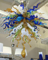 Бесплатная доставка UL/CE 110В/220В LED Ремесло Искусство Изобразительное стекло люстра Подвесная лампа