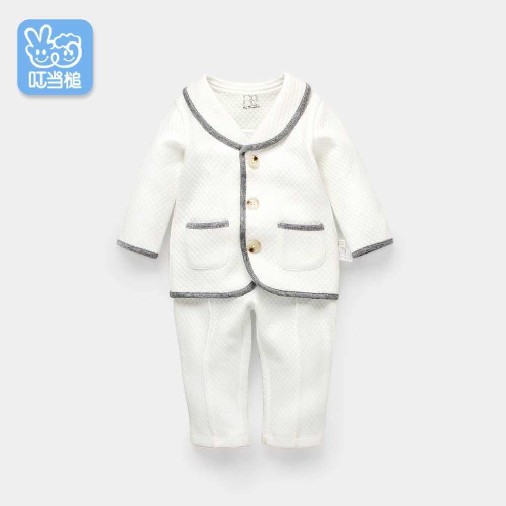 Otoño recién nacido bebé conjunto de ropa de algodón Camiseta y pantalón 2 piezas cumpleaños juego de vestidos 100% algodón 0-4 años
