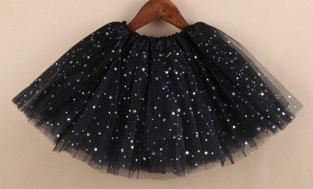 e706b58e6 € 5.4 |Chica estrella brillo danza negro tutú falda lentejuelas con 3 capas  tul tutú niño niña chifón pettiskrit en Faldas de La ropa de las ...