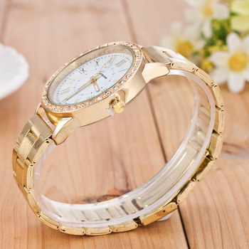 Hot Sell Top Men Watch Diamond Fashion Stainless Steel Watches Gold luxury Watches Male Clock erkek kol saati relogio masculino 1