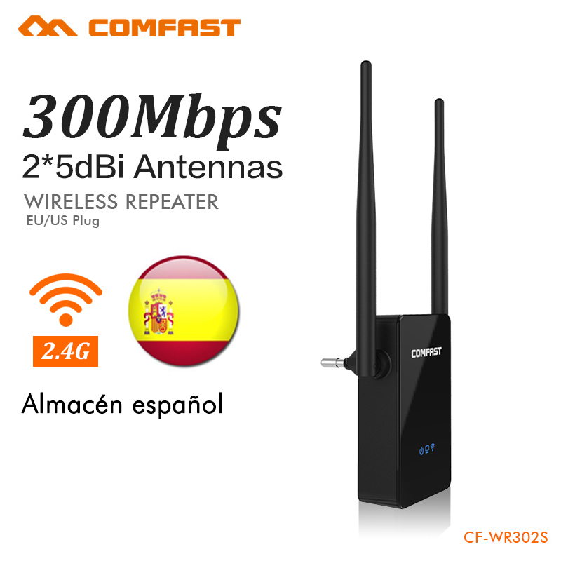 Spanish Warehouse Wireless Router Wi-fi Repeater 300Mbps Wifi Router English Firmware Wireless Range Extender 2.4Ghz CF-WR302S