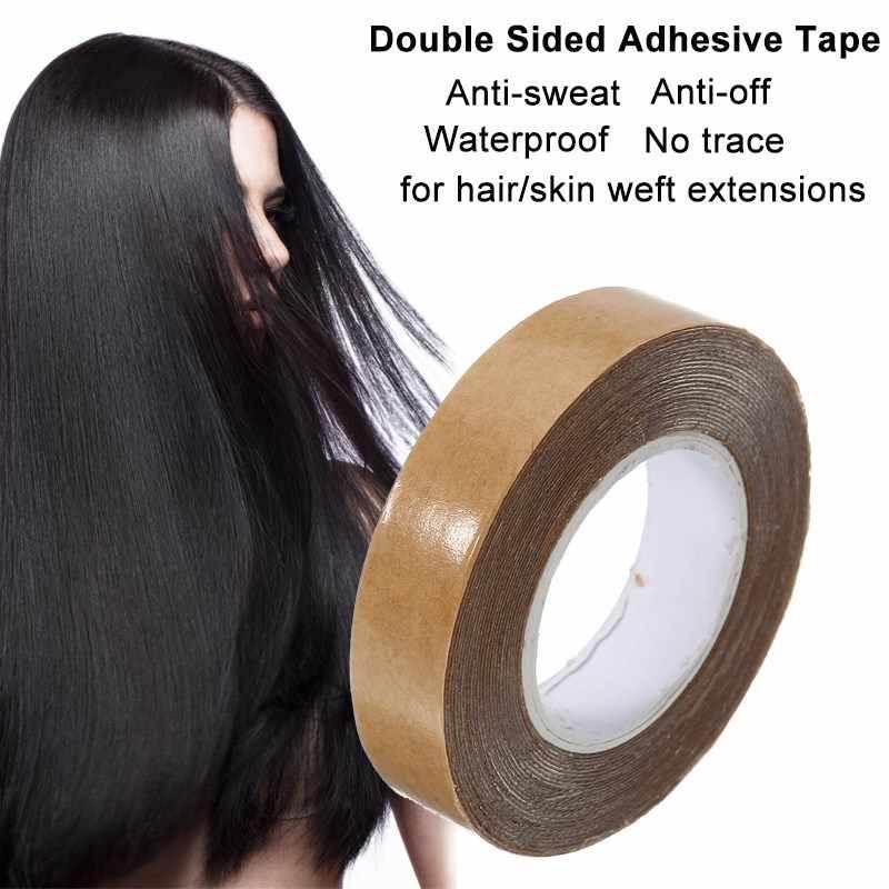 1 шт. 1 см * 3 ярда Двухсторонняя клейкая лента Водонепроницаемый бесследные супер клейкие ленты для кожи уток парик их натуральных волос Расширение