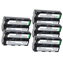 5pcs NP F550 NP F550 NPF550 Rechargeable Li ion battery (2600mAh) for Sony NP F330 NP F530 NP F570 NP F730 NP F750 Hi 8