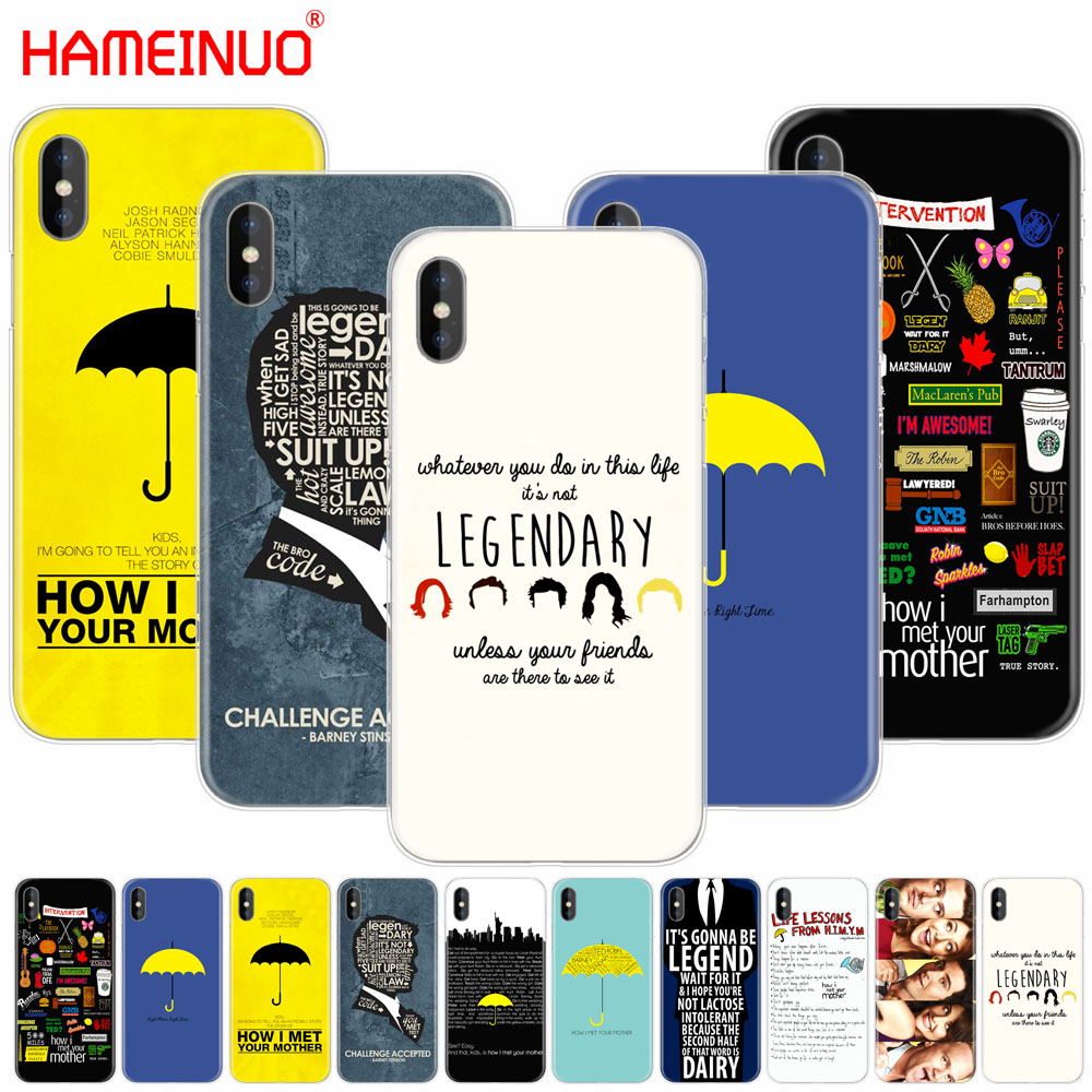 HAMEINUO how i met your mother himym quotes cell phone Cover case for iphone X 8 7 6 4 4s 5 5s SE 5c 6s plus