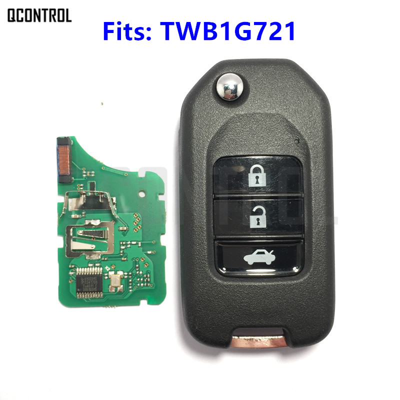 New Fashion Qcontrol 3 Buttons Car Remote Key Fit For Honda Accord Civic City Cr-v Jazz Xr-v Vezel Hr-v Part Number Twb1g721 To Have Both The Quality Of Tenacity And Hardness Auto Replacement Parts