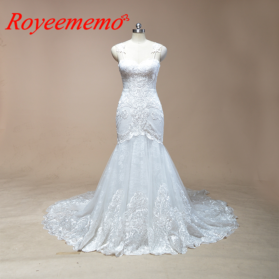 Wedding Gown Wholesalers: 2019 Sleeveless Mermaid Lace Wedding Dress Hot Sale